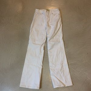LEVI 512 BOOT CUT WHITE JEANS SIZE 4 M